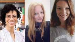 The ScholCommLab's visiting scholars: Iara Vidal, Isabelle Dorsch, and Lisa Matthias