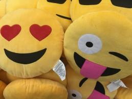 Image of emoji plushies