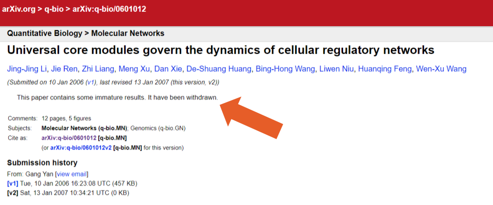 An arxiv record with a withrdawal notice