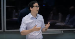 Juan Pablo Alperin gives the keynote presentation at Open Education 2019